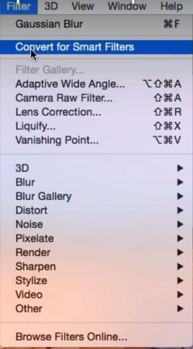 Smart Filters Menu